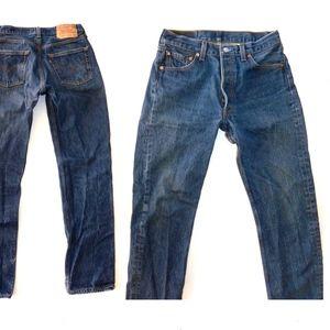 """Vintage 501xx Jeans Dark High Waist 28 - 29"""" x 32"""